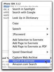 Contextual Search of your notes in Evernote.